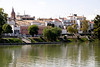 View across Rio Guadalquiver Seville towards the Triana district