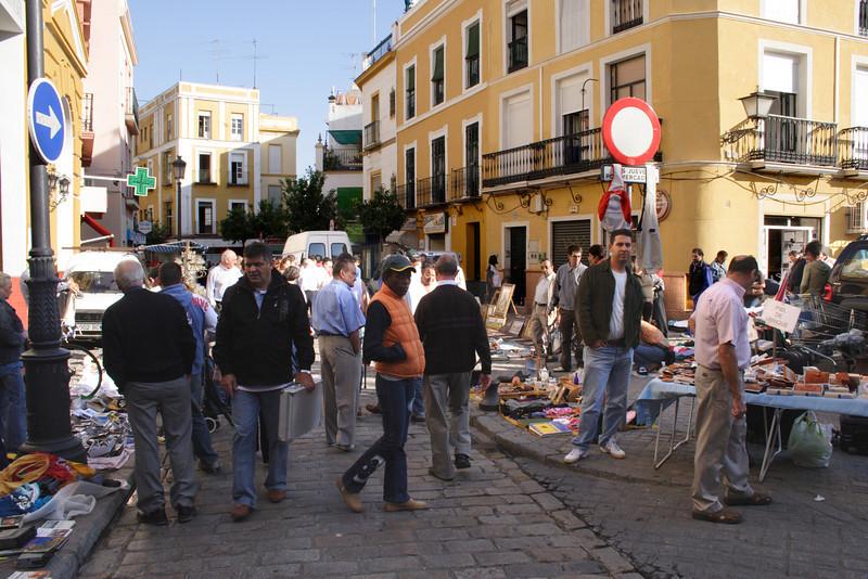 Street Market Calle de la Feria Seville October 2007