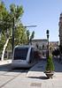 Modern Tram in the Plaza Nueva Seville