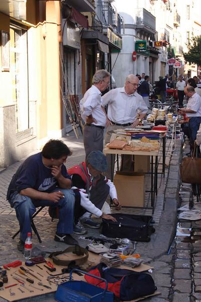 Vendors at Calle de la Feria street market Seville October 2007