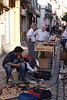 Vendors at Calle de la Feria street market Seville October 2007