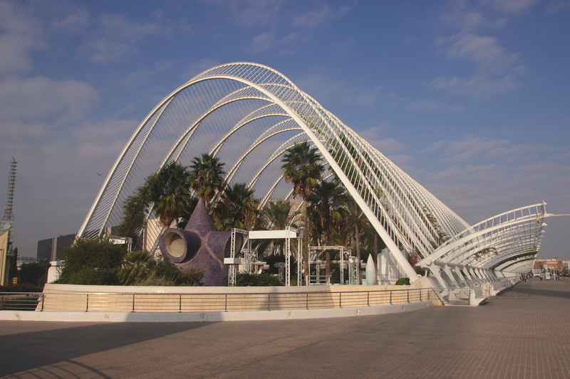 Roof of the Umbracle at City of Arts and Sciences Valencia Spain