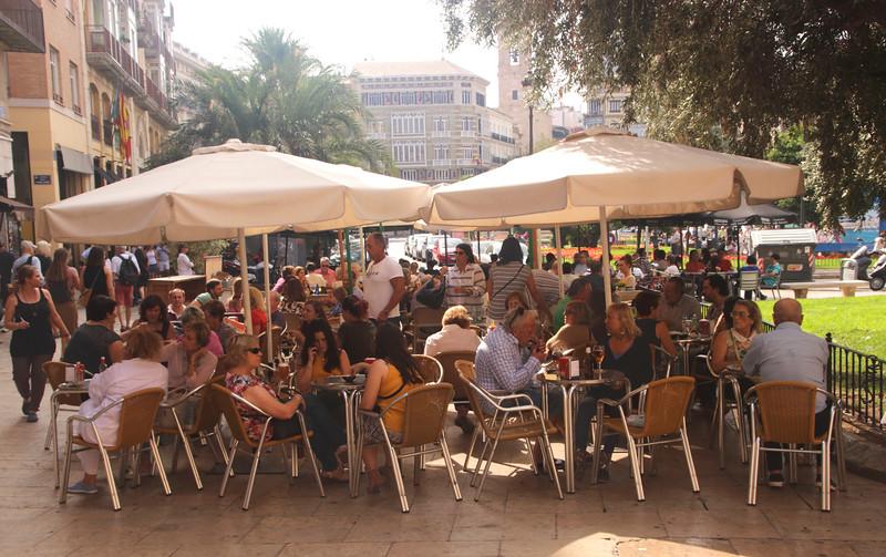 Restaurant in Plaza de la Reina Valencia Spain