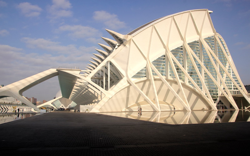 Science Museum at City of Arts and Sciences Valencia Spain