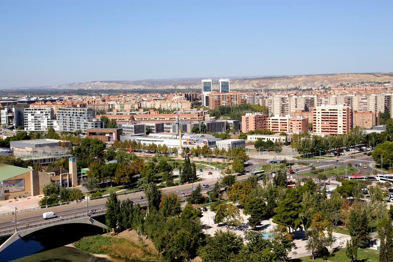 Suburbs skyline Zaragoza Aragon Spain