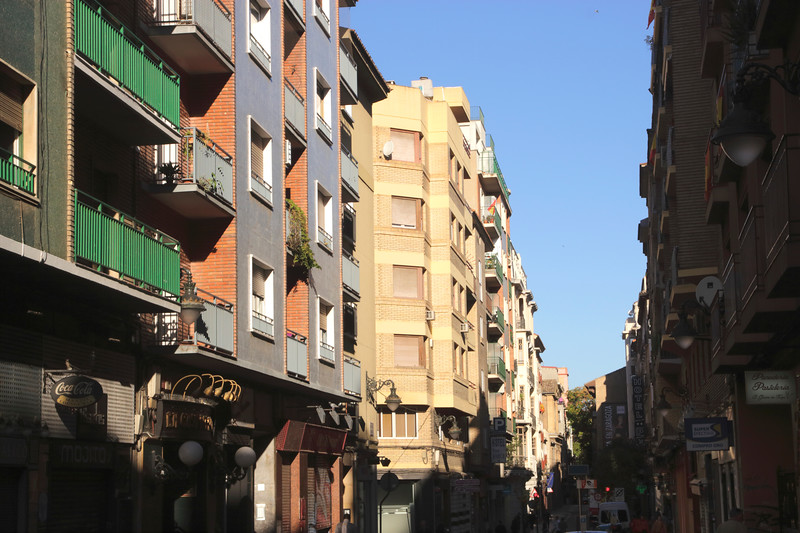 Calle Mayor in old city centre Zaragoza Spain