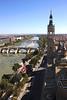 Aerial view of Zaragoza from Basilica de Nuestra Señora del Pilar