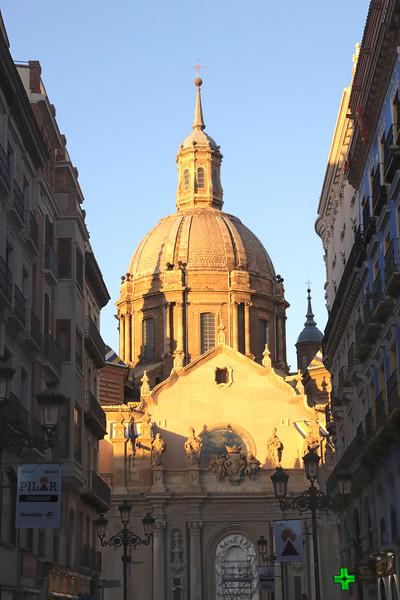 Dome of Basílica de Nuestra Señora del Pilar cathedral Zaragoza Spain