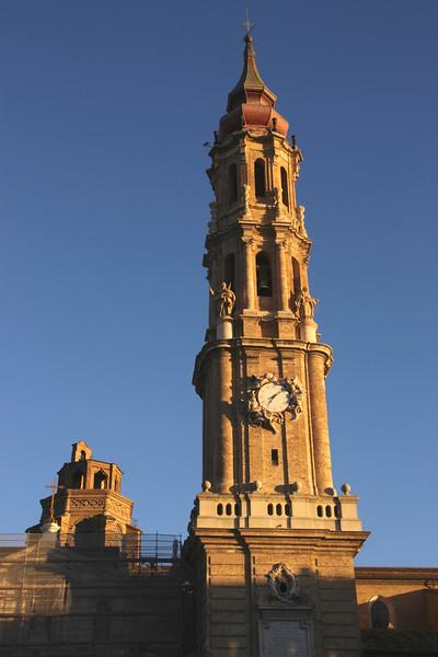 San Salvador Cathedral spire Zaragoza Spain
