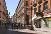 Calle de Alfonso I shopping street in old city centre Zaragoza Spain