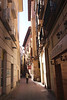 Calle Santa Cruz alley in Zaragoza Spain