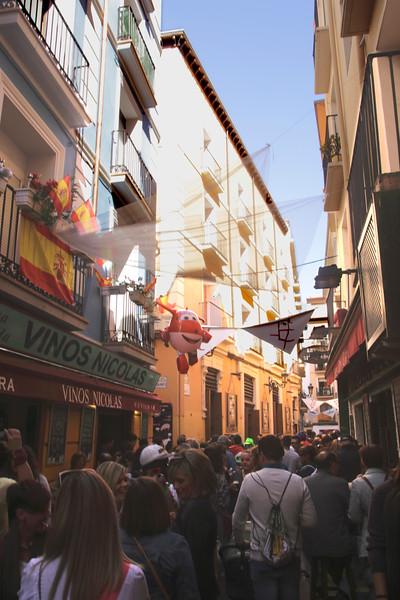 Calle de la Libertad alley in old city centre Zaragoza Spain
