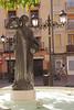Fuente de la Samaritana statue in Plaza del Justicia Zaragona Spain
