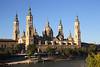 Basílica de Nuestra Señora del Pilar cathedral by Ebro River Zaragoza Spain