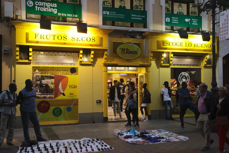 Frutos Secos El Rincon dried fruit store in Calle de Alfonso I Zaragoza Spain