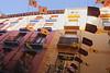 Residential balconies in Calle del Heroismo Zaragoza Spain