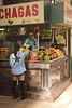 Fruit stall Central Market Zaragoza Spain