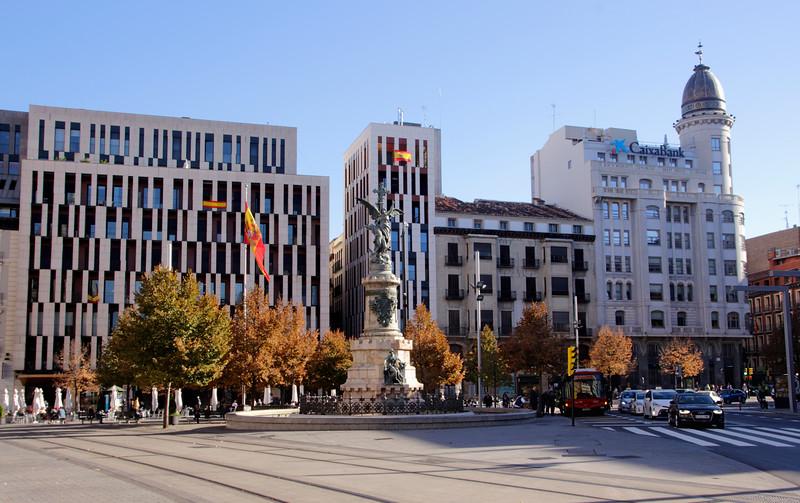 Plaza Espana Zaragoza Spain