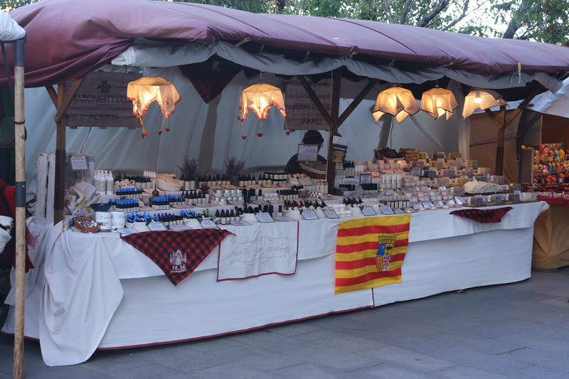 Street Market at Paseo Echegaray y Caballero Zaragoza Aragon Spain