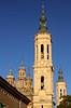 Spire of Basílica de Nuestra Señora del Pilar Zaragoza Spain