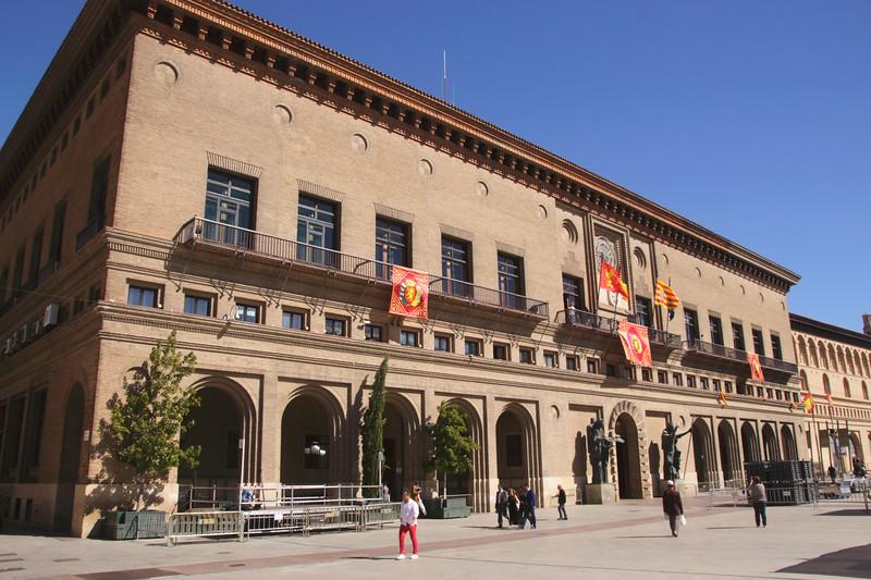 City Hall Plaza del Pilar Zaragoza Spain