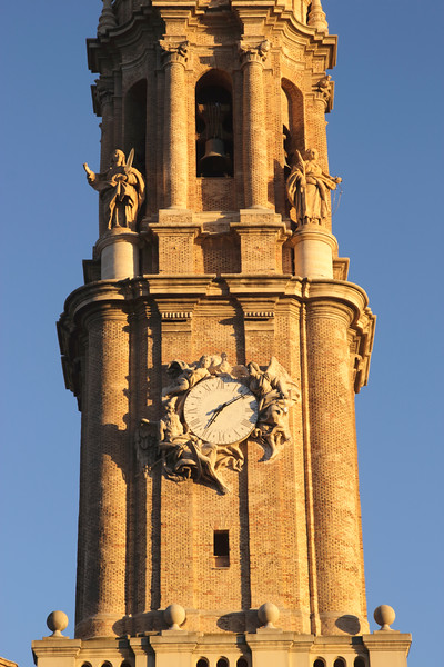 San Salvador Cathedral spire Zaragoza Spain
