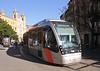 Tram in Avenida de Cesar Augusto Zaragoza Spain