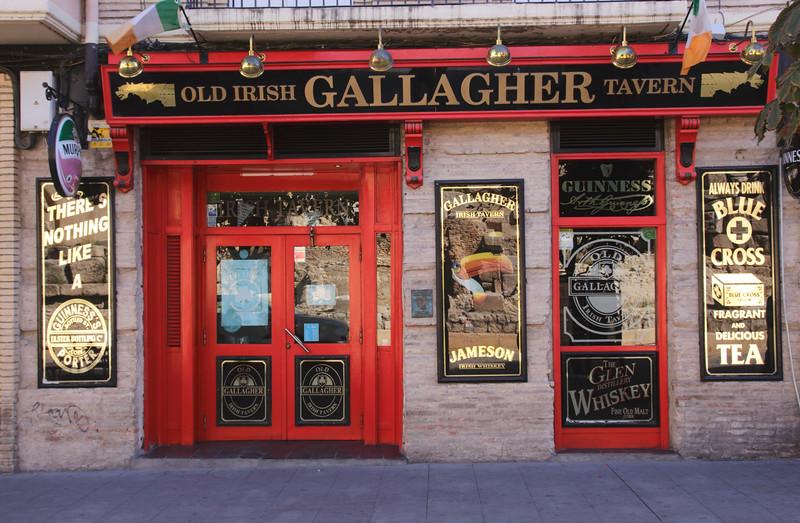 Old Irish Gallagher Tavern Zaragoza Spain