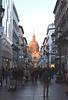 Calle de Alfonso I shopping street Zaragoza Spain