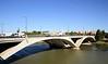 Puente de Santiago bridge over Ebro River Zaragoza Spain