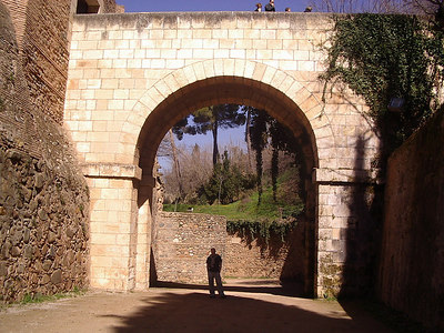 Caleb at Alahmbra in Granada.  An old moorish palace.