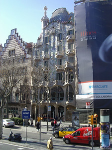One of Gaudi´s famous apartment buildings in Barcelona.