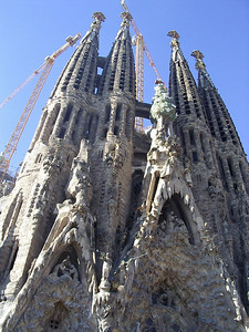 Sagrada Familia, 4 of the 12 tower that will represent the apostles.