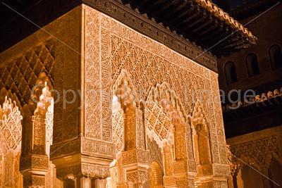 Nasrid Palace at night