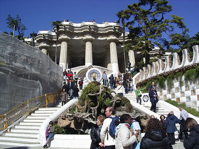 Park Guell.  Gaudi designed park.