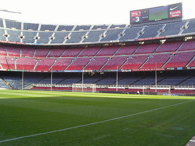 Barcelona Soccer Stadium, where we went to a sold out game.