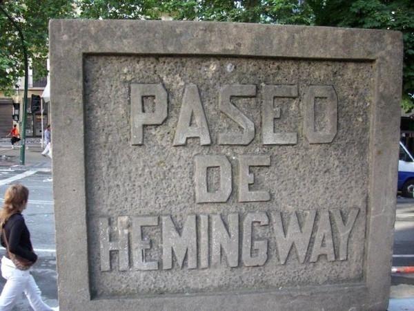 Paseo de Hemingway in Pamplona