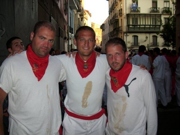 Eric, Jake and Luke after surviving the run!