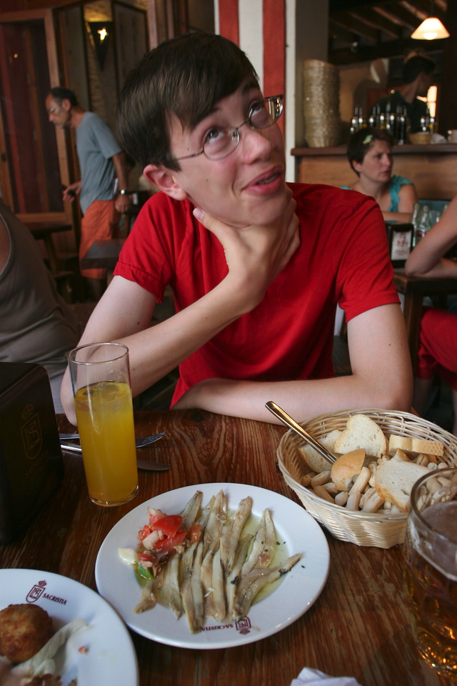 Ben gamely tried the tapas, and sometime liked them