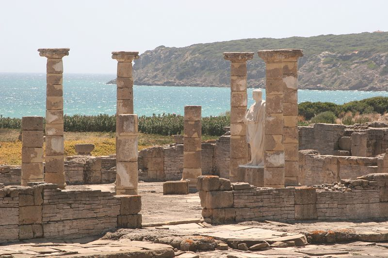 The old roman port of casea braolo, where fish pasted was made for the citizens of Rome. ``