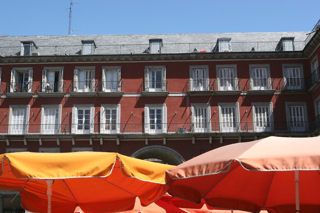 The Plaza Mayor, 15th century center of activity and still where many hang out