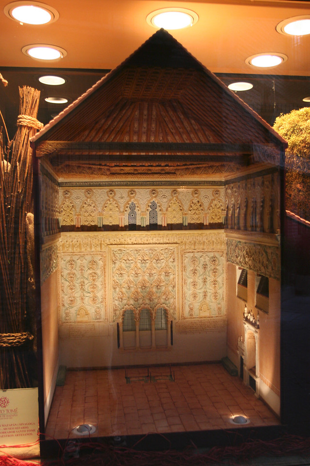 A model of the synagogue, made entirely of marzipan, the specialty of Toledo