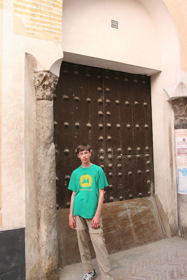 Almost nothing remains of the Jewish quarter, the original inhabitants driven out or killed. Ben stands beside one of the only remaing parts of a synagogue
