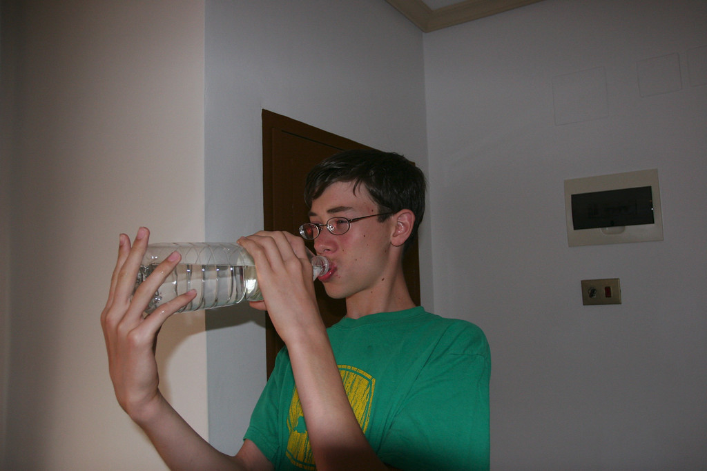 It was so hot that Ben even stooped once to drink water. Mostly he drank orange soda