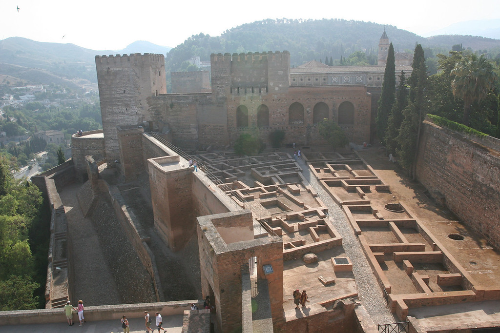 The fortress part of the Alhambra