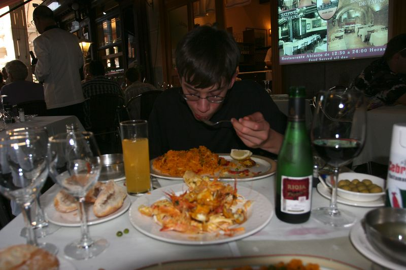 """Our only meal of paella, but it was worth it. Many places sell """"canned"""" paella."""