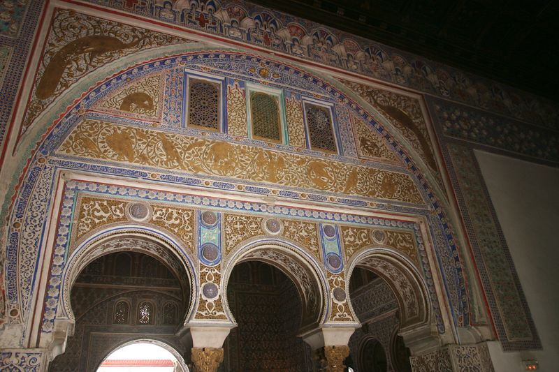 The Alcazar, with decorations by moorish artists for the kings
