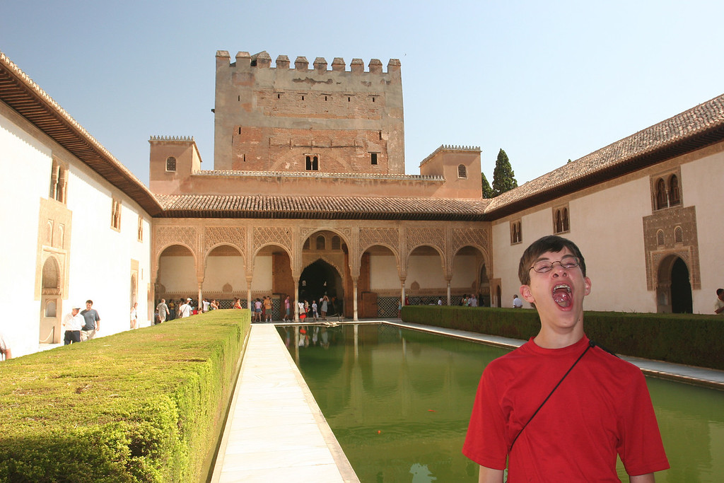 Ben pretends to be bored by the most popular palace in Europe