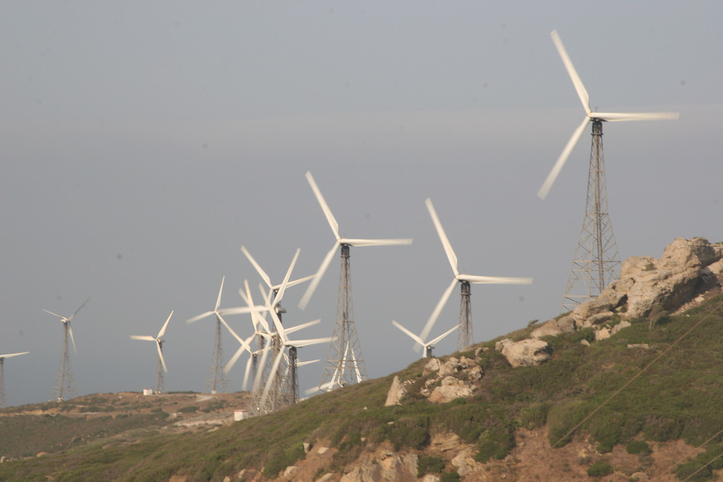 Wind generators near Gibraltar