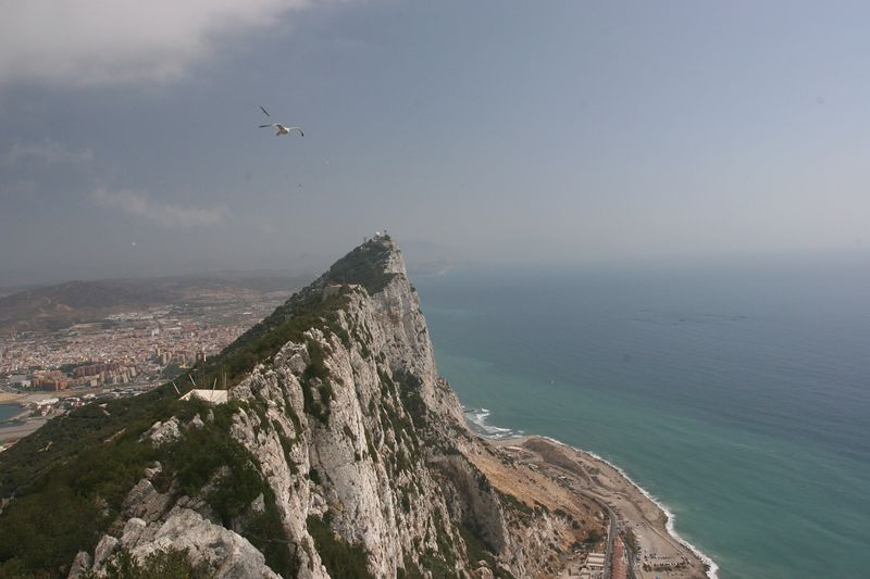 View to the north, along the spine of Gibraltar